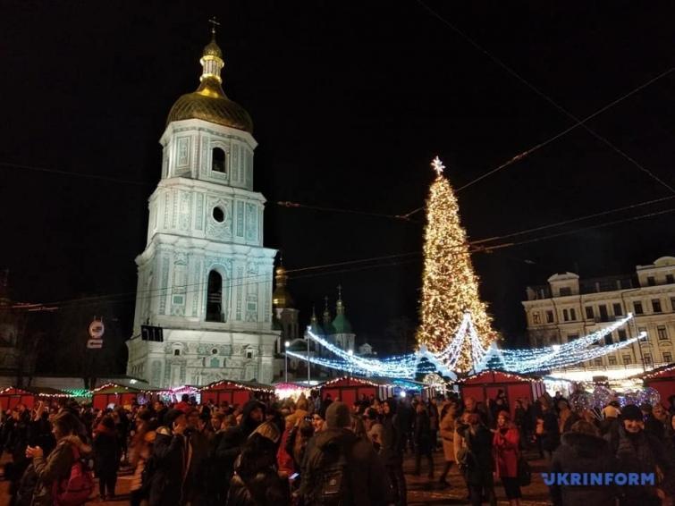 Новорічна ялинка-2020 на Софійській площі