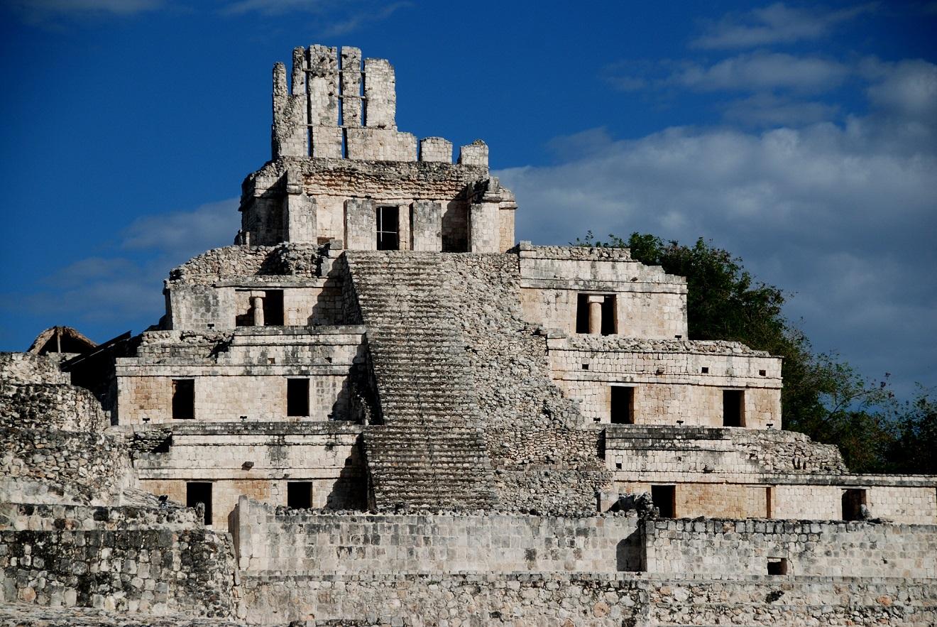 5-ти поверховий храм-піраміда у Ецні, Кампече (Мексика), фото Юрія Полюховича