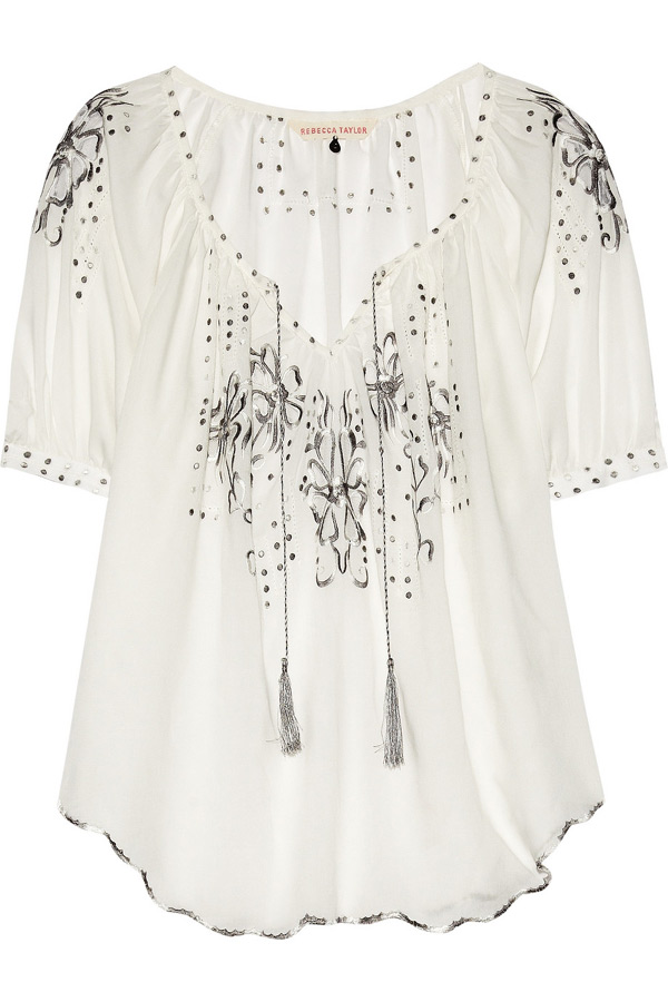 Rebecca taylor пропонує вишиту гладдю блузу
